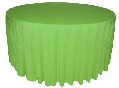 Charmant Apple Green Wrinkle Free Tablecloth